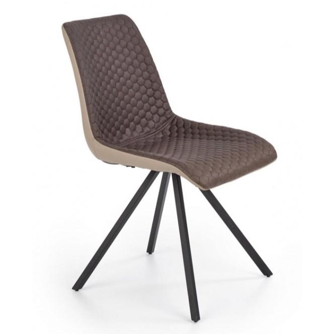 Krzesło metalowe  K394 brązowe HALMAR
