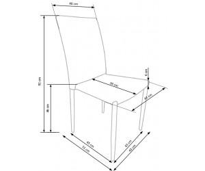 Krzesło metalowe K375...