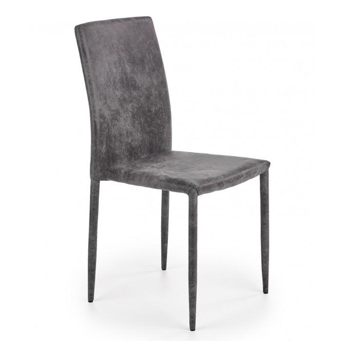 Krzesło metalowe K375 popielate HALMAR