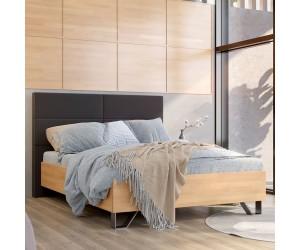 Łóżko drewniane bukowe Visby BARTAP z tapicerowanym zagłówkiem
