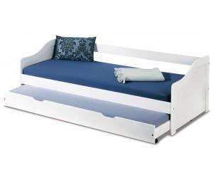 Łóżko LEONIE 2 białe HALMAR