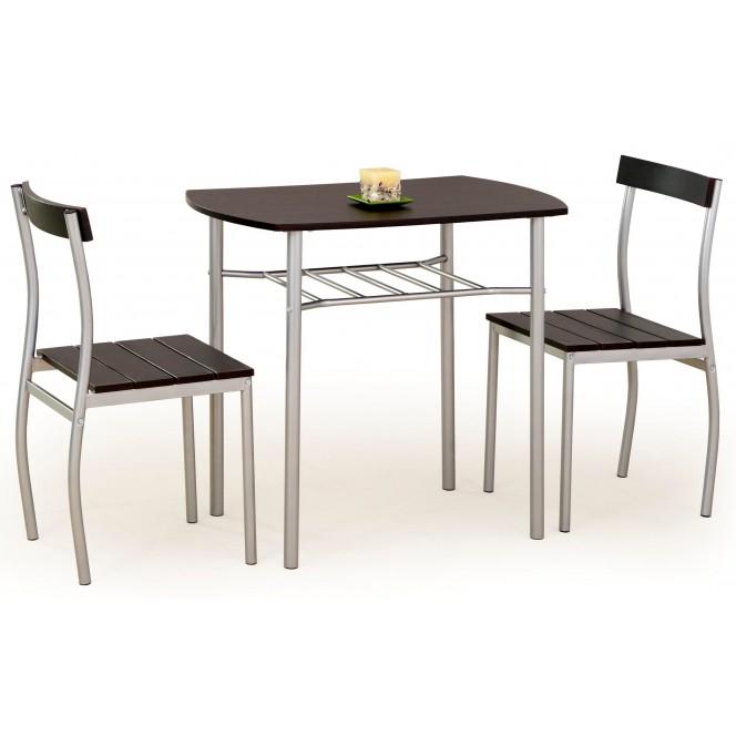 Zestaw LANCE stół + 2 krzesła wenge...