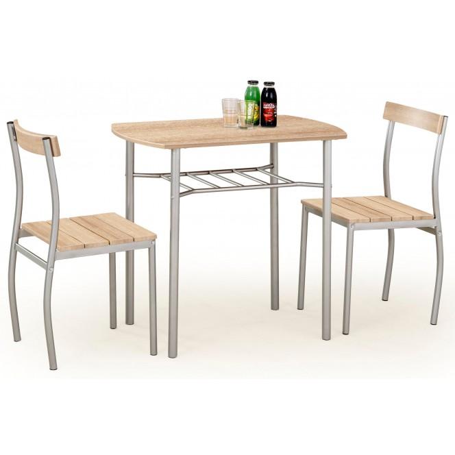 Zestaw LANCE stół + 2 krzesła dąb...
