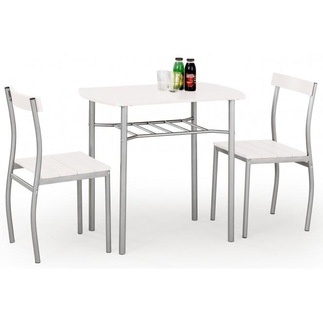 Zestaw LANCE stół + 2 krzesła biały...