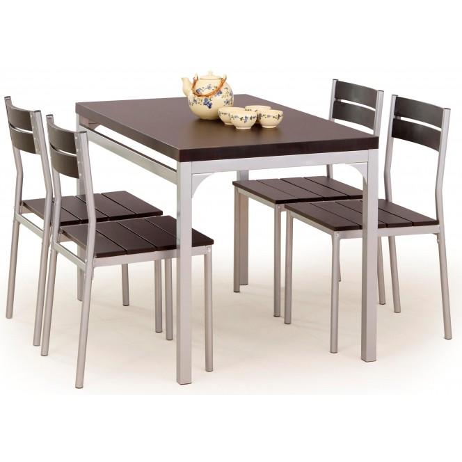 Zestaw MALCOLM stół + 4 krzesła wenge...