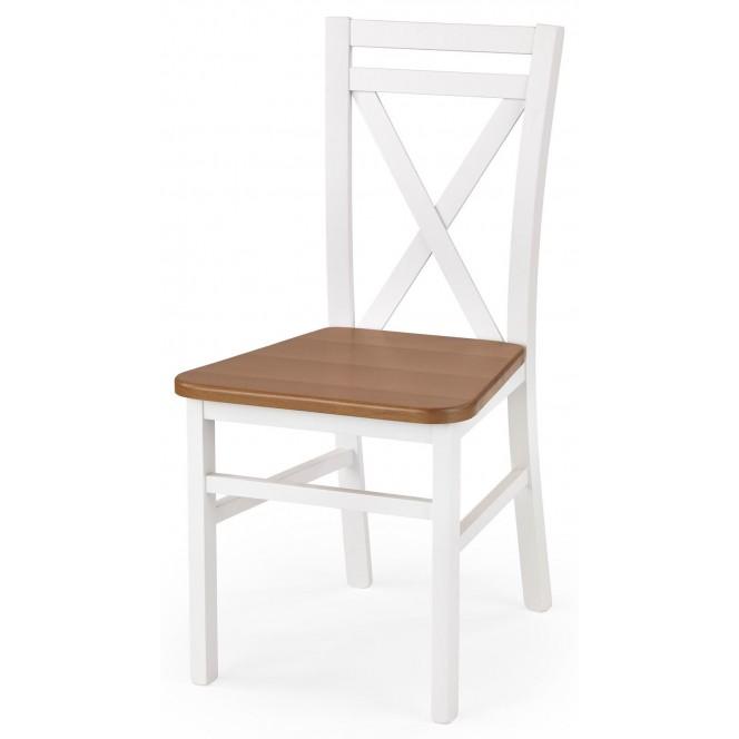 Krzesło DARIUSZ 2 biały / olcha HALMAR