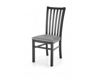 GERARD7 krzesło czarny / tap: velvet Monolith 85 (popiel) (1p 2szt)