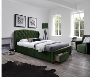 SABRINA łóżko z szufladami ciemny zielony (6p 1szt)