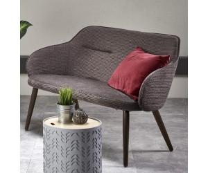 VERANO XL sofa tapicerka - c. popiel, nóżki - orzech (1p 1szt)