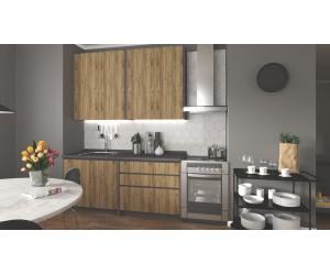 IDEA 180 kuchnia zestaw korpus: antracyt, fronty: dąb wotan (8p 1kpl)