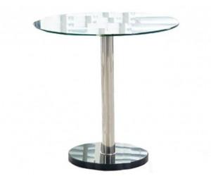 Stół 80 cm okrągły szklany...