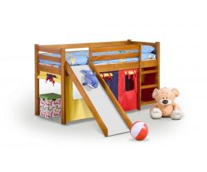 NEO PLUS - łóżko piętrowe ze zjeżdżalnią i materacem - olcha (4p 1szt)