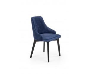 TOLEDO 3 krzesło czarny / tap. velvet pikowany Karo 4 - MONOLITH 77 (granatowy) (1p 1szt)