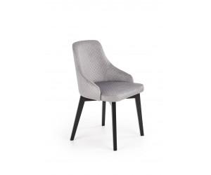 TOLEDO 3 krzesło czarny / tap. velvet pikowany Karo 4 - MONOLITH 85 (jasny popiel) (1p 1szt)
