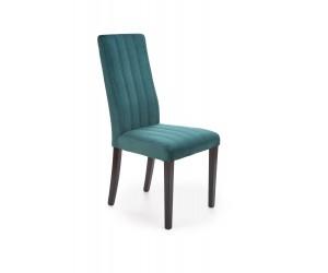 DIEGO 2 krzesło czarny / tap. velvet pikowany Pasy - MONOLITH 37 (ciemny zielony) (1p 2szt)