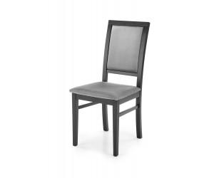 SYLWEK1 krzesło czarny / tap: velvet Monolith 85 (popiel) (1p 2szt)
