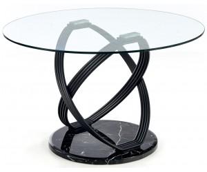 Stół 122 cm okrągły szklany...