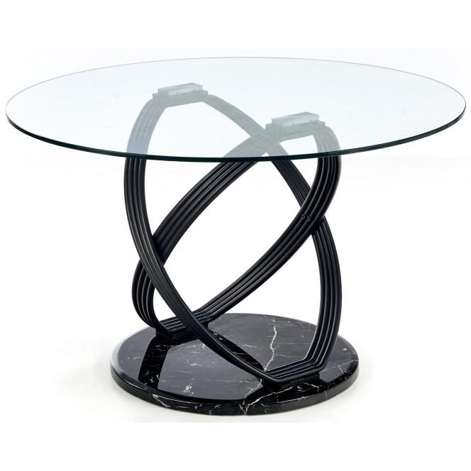 Stół 122 cm okrągły szklany OPTICO...