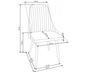 K285 krzesło ciemny popiel...