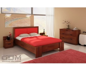 Łóżko sosnowe KRONOBERG HIGH