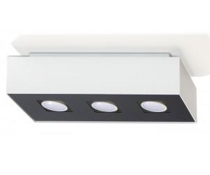 Plafon MONO 3 Biały SOLLUX