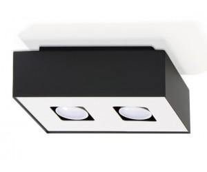 Plafon MONO 2 Czarny SOLLUX