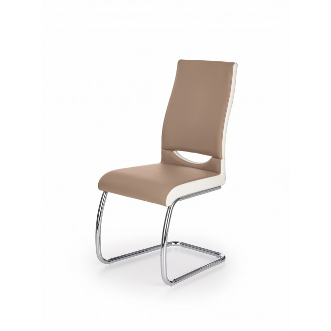 K259 krzesło cappuccino / biały (2p 4szt)
