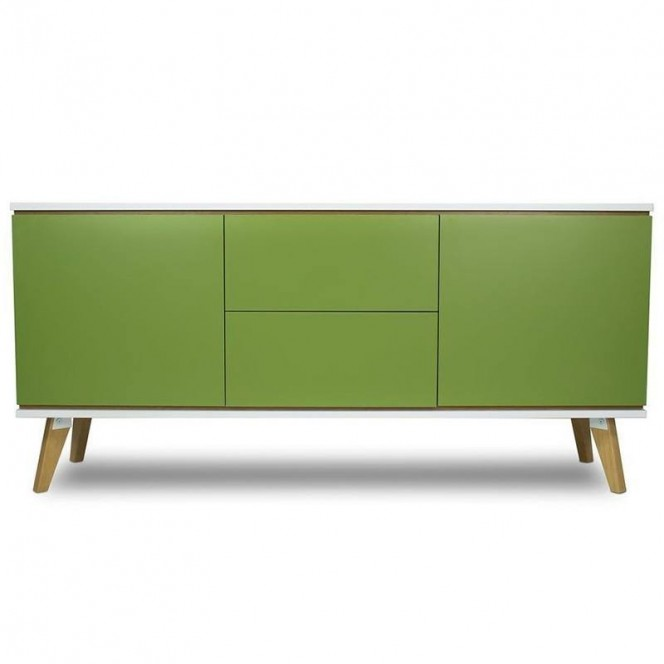 Zielona komoda 160 cm - Skandica...
