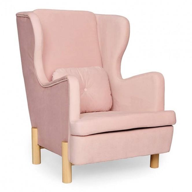 Różowy fotel Skandica INGRID Flamingo