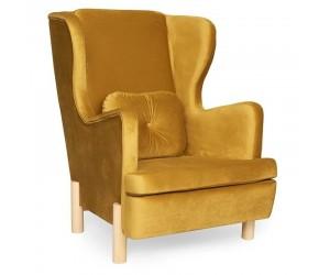 Żółty fotel Skandica INGRID Gold