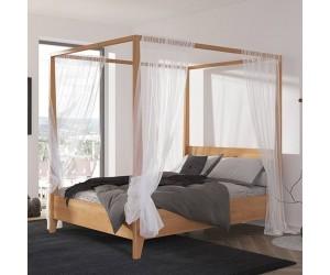 Łóżko drewniane bukowe z...