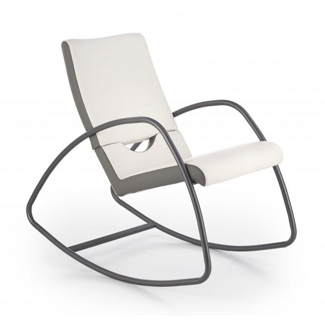 BALANCE fotel bujany popielaty / biały (2p 1szt)