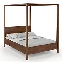Łóżka drewniane z baldachimem